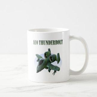 A10 Thunderbolt Green Plane Coffee Mug