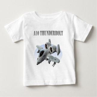 A10 Thunderbolt Grey Plane Baby T-Shirt