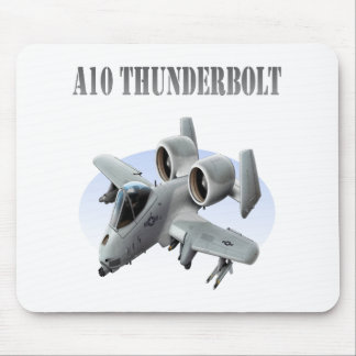A10 Thunderbolt Grey Plane Mouse Pad