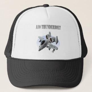 A10 Thunderbolt Grey Plane Trucker Hat