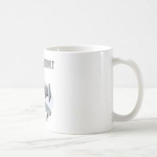 A10 Thunderbolt Silver Plane Coffee Mug