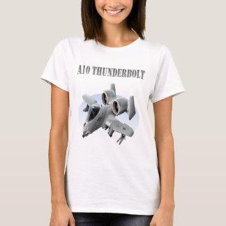A10 Thunderbolt Silver Plane T-Shirt