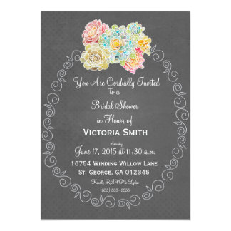 A1 Best Chalkboard Corresponding Bridal Shower - Card