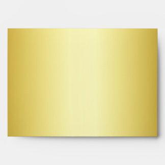 A1 Gold Black Damask Envelope