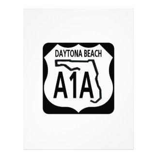 A1A Daytona Beach Letterhead Template