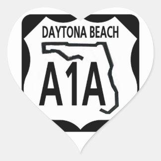 A1A Daytona Beach Pegatina En Forma De Corazón