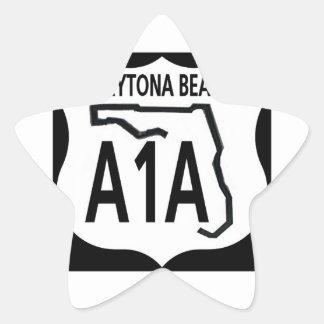 A1A Daytona Beach Pegatina En Forma De Estrella
