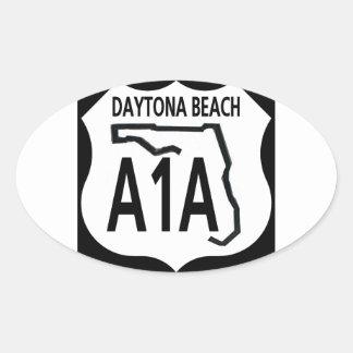 A1A Daytona Beach Pegatina Ovalada