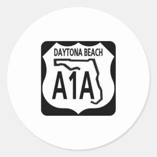 A1A Daytona Beach Pegatina Redonda