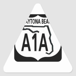 A1A Daytona Beach Pegatina Triangular
