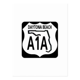 A1A Daytona Beach Postcard