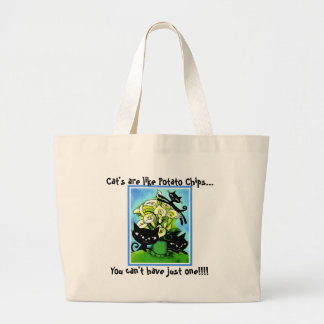 a1alilycats2, Cat's are like Potato Chips..., Y... Large Tote Bag