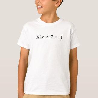 A1c < 7 = :) T-Shirt