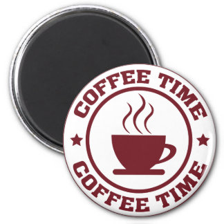 A251 coffee time circle burgundy 2 inch round magnet