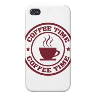 A251 coffee time circle burgundy iPhone 4 covers