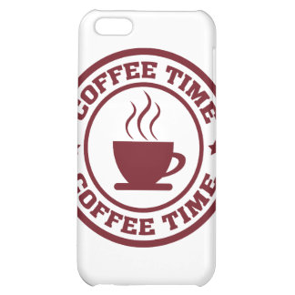 A251 coffee time circle burgundy case for iPhone 5C