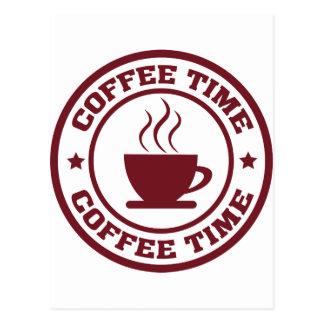 A251 coffee time circle burgundy postcard