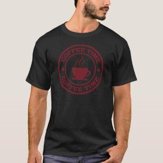 A251 coffee time circle burgundy T-Shirt