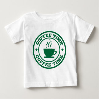 A251 coffee time circle dark green baby T-Shirt