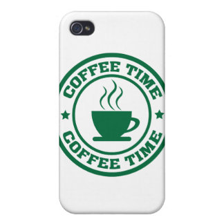 A251 coffee time circle dark green iPhone 4 covers