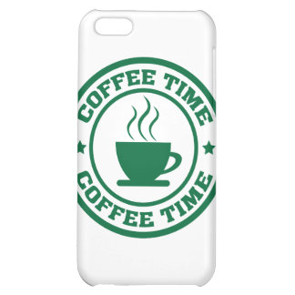 A251 coffee time circle dark green cover for iPhone 5C