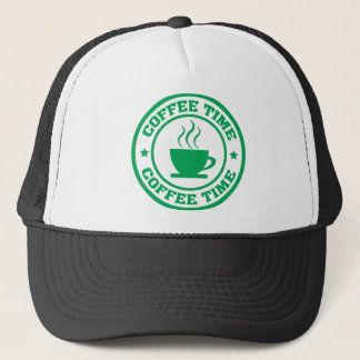 A251 coffee time circle green trucker hat