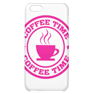 A251 coffee time circle hot pink iPhone 5C cover