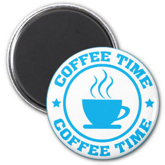 A251 coffee time circle light blue 2 inch round magnet