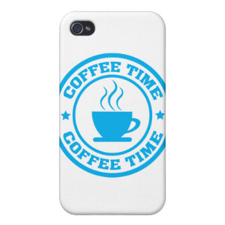 A251 coffee time circle light blue cases for iPhone 4