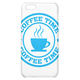 A251 coffee time circle light blue iPhone 5C case