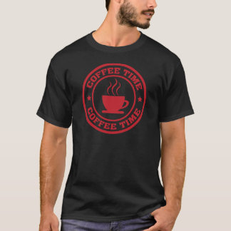 A251 coffee time circle red T-Shirt