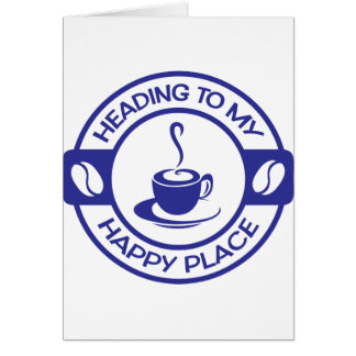 A257 happy place coffee blue card
