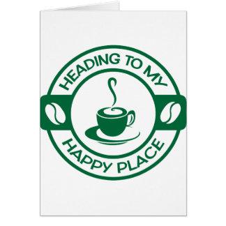 A257 happy place coffee dark green card