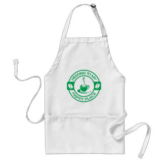 A257 happy place coffee green adult apron