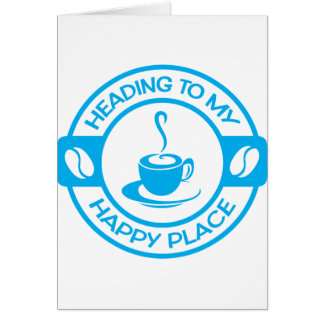 A257 happy place coffee light blue card