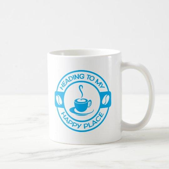 A257 happy place coffee light blue coffee mug