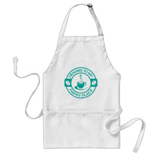 A257 happy place coffee teal adult apron