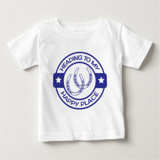 A258 happy place horseshoes blue baby T-Shirt