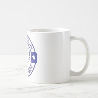 A258 happy place horseshoes blue classic white coffee mug