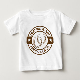 A258 happy place horseshoes brown baby T-Shirt
