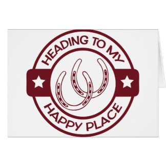 A258 happy place horseshoes burgundy card