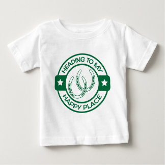 A258 happy place horseshoes dark green baby T-Shirt