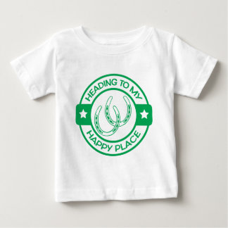 A258 happy place horseshoes green baby T-Shirt