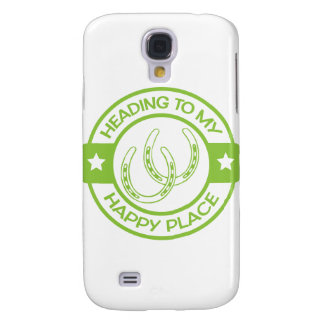 A258 happy place horseshoes lime green samsung galaxy s4 cover