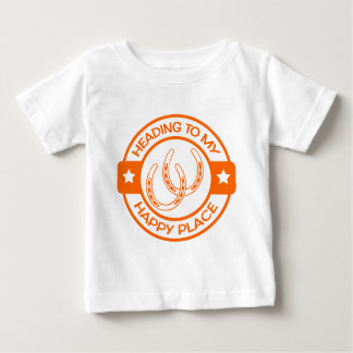 A258 happy place horseshoes orange baby T-Shirt