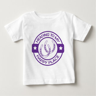A258 happy place horseshoes purple baby T-Shirt