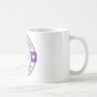 A258 happy place horseshoes purple classic white coffee mug
