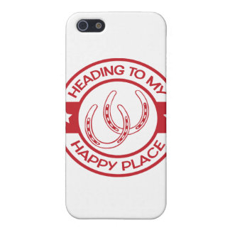 A258 happy place horseshoes red iPhone SE/5/5s cover