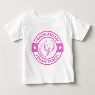 A258 happy place horseshoes soft pink baby T-Shirt