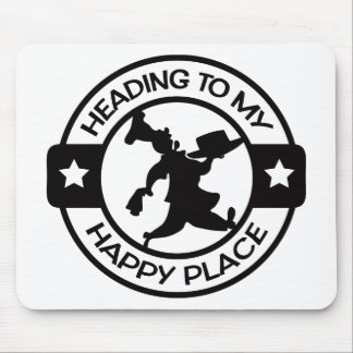 A259 happy place pastry chef black mouse pad